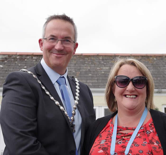 The Mayor, Cllr Nick Farrar, and Mayoress, Mrs Angela Farrar