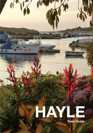 The Hayle Town Guide book cover link to shop where it can be purchased